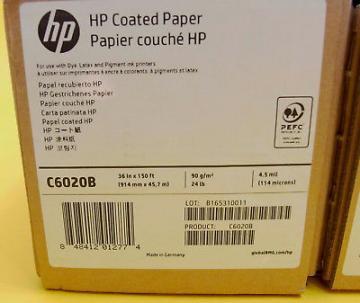 Giấy dùng cho máy in HP Designjet C6020B